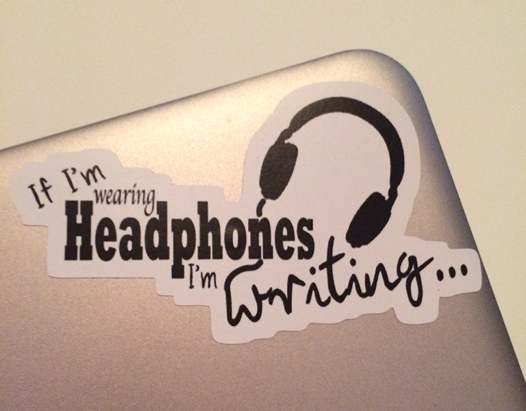 My need for writing music is such a joke among my friends that my bestie recently got me this for my laptop.