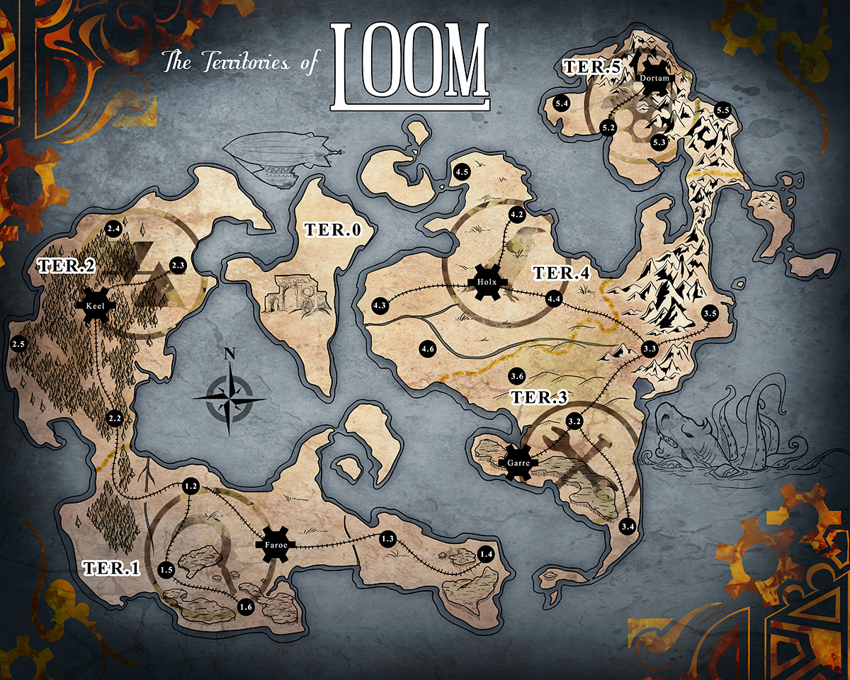The complete map of loom fandeluxe Choice Image