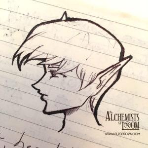 Original sketch of Cvareh