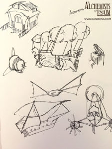 Airship exploration, inspired by Final Fantasy 9.