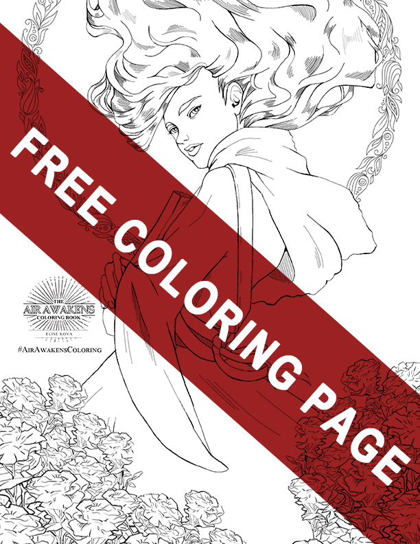 Coloring Book Promo Page Vhalla sm banner
